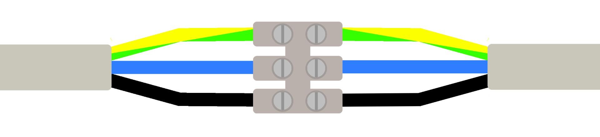 Lampe anschließen mit drei Deckenkabeln