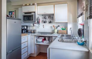 Stilvolle Küche auf kleinem Raum