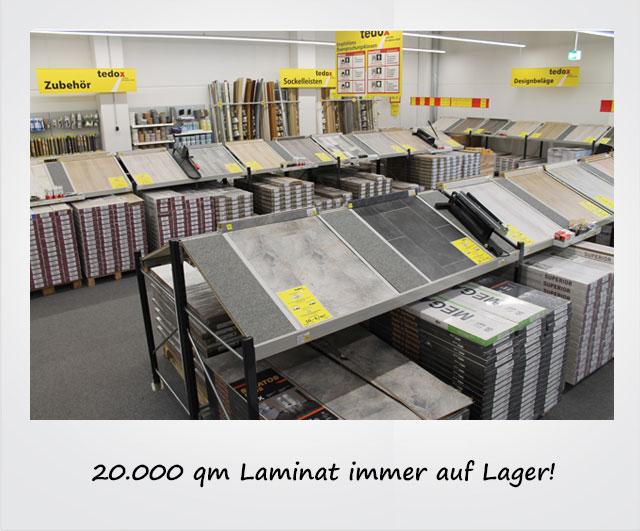 20.000 qm Laminat immer auf Lager