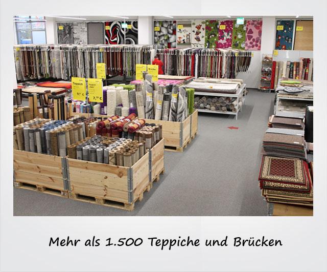 Mehr als 1.500 Teppiche und Brücken
