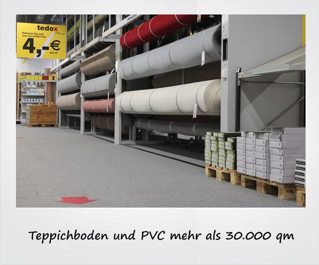 Teppichboden und PVC mehr als 30.000 qm